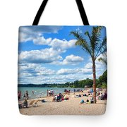 Tropical Beach In Port Dover Tote Bag