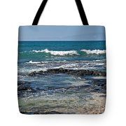 Tropical Beach Seascape Art Prints Tote Bag