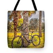 Tropical Bicycle Tote Bag