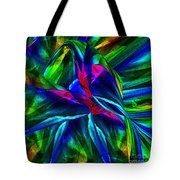 Tropical Bird Sits On A Tropical Tree Tote Bag