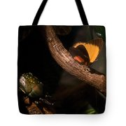 Tropical Butterfly And Rhinoceros Beetle Tote Bag