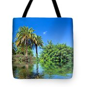 Tropical Exotic Jungle And Water Tote Bag