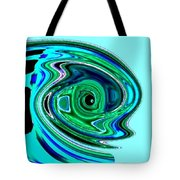 Tropical Fish Abstract Tote Bag