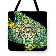Tropical Fish Art 8 - Abstract Mosaic By Sharon Cummings Tote Bag