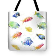 Tropical Fish Round Tote Bag