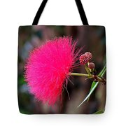 Red Mimosa Flower Tote Bag