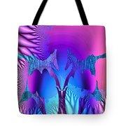 Tropical Fractal Tote Bag