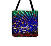 Tropical Fusion Palm Tote Bag