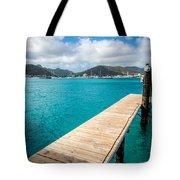 Tropical Harbor Tote Bag