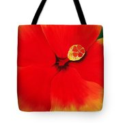Tropical Hibiscus Painting Tote Bag