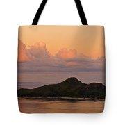 Tropical Island At Sunset Tote Bag