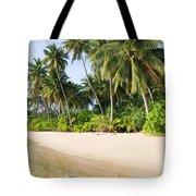 Tropical Island Beach Scenery Tote Bag