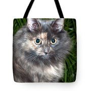 Tropical Kitty Tote Bag