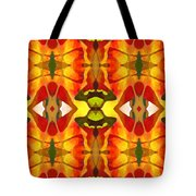 Tropical Leaf Pattern 4 Tote Bag