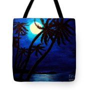 Tropical Moon On The Islands Tote Bag