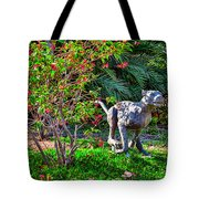 Tropical Mountain Lion Tote Bag