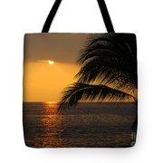 Tropical Ocean Sunset Tote Bag