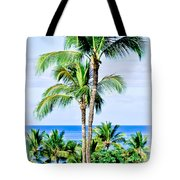 Tropical Palm Trees In Hawaii Tote Bag