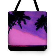 Tropical Pink Sunset Tote Bag