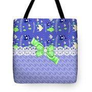 Whimsical Purple Tropical Fish  Tote Bag