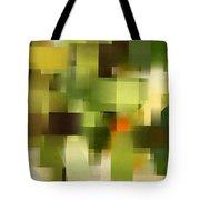 Tropical Shades - Green Abstract Art Tote Bag