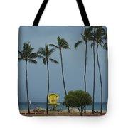Tropical Storm Flossie Kapukaulua Beach Paia Maui Hawaii 2013 Tote Bag