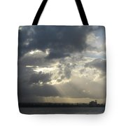 Tropical Stormy Sky Tote Bag