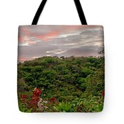 Tropical Sunset Landscape Tote Bag