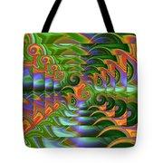 Tropical Swirls Layered Tote Bag