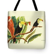 Tropical Toucans II Tote Bag