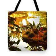 Tropical Water Garden Tote Bag
