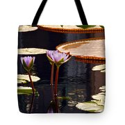 Tropical Waters Floral Charm Tote Bag