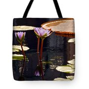 Tropical Waters Floral Charm -- Version 2 Tote Bag