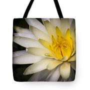Tropical White Water Lily Tote Bag
