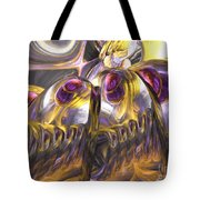 Tropical Wind Painted Abstract Tote Bag