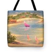 Tropical Windy Island Paradise Tote Bag