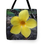 Tropical Yellow Flower Tote Bag