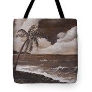 Tropics In Brown Tote Bag