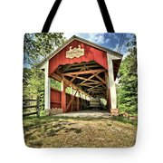 Trostle Town Covered Bridge Tote Bag