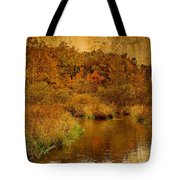 Trout Stream Textured Tote Bag