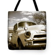 Truck And Trailer Tote Bag