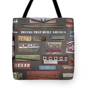 Trucks That Built America Tote Bag