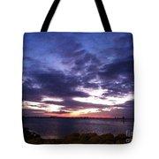 True Blue Sunset Tote Bag