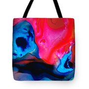 True Colors - Vibrant Pink And Blue Painting Art Tote Bag