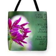 True Face - Poem - Flower Tote Bag