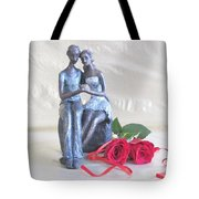 True Love In Silver Tote Bag