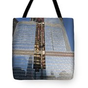 Trump International Hotel Under Construction Chicago Tote Bag