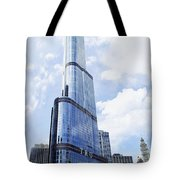 Trump Tower 3 Letter Signage Tote Bag