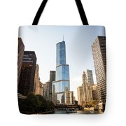 Trump Tower And Downtown Chicago Buildings Tote Bag
