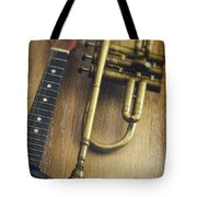 Trumpet And Banjo Tote Bag